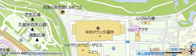 ソフトバンク ゆめタウン久留米周辺の地図