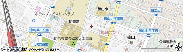 福岡県久留米市城南町周辺の地図