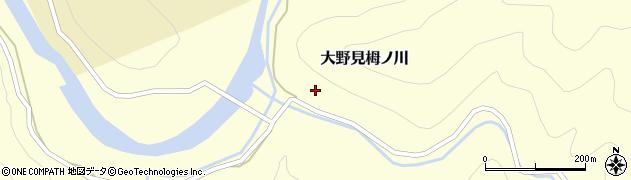 高知県中土佐町(高岡郡)大野見栂ノ川周辺の地図