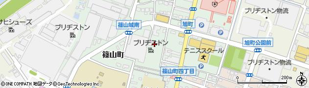 福岡県久留米市篠山町周辺の地図