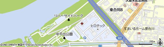 福岡県久留米市東合川干出町周辺の地図