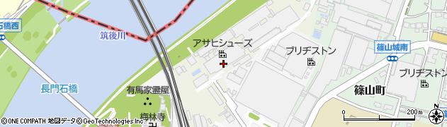 福岡県久留米市洗町周辺の地図