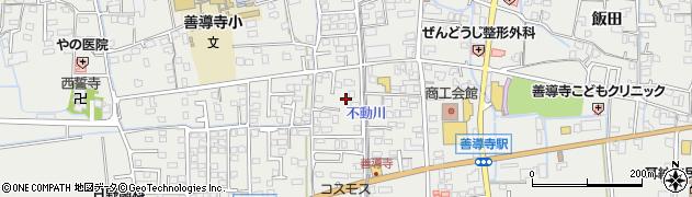 福岡県久留米市善導寺町(飯田)周辺の地図