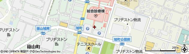 福岡県久留米市旭町周辺の地図