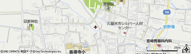 福岡県久留米市善導寺町周辺の地図