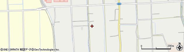 福岡県久留米市田主丸町中尾周辺の地図