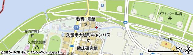 福岡県久留米市小森野町周辺の地図