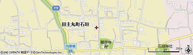 福岡県久留米市田主丸町石垣周辺の地図