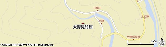 高知県中土佐町(高岡郡)大野見竹原周辺の地図