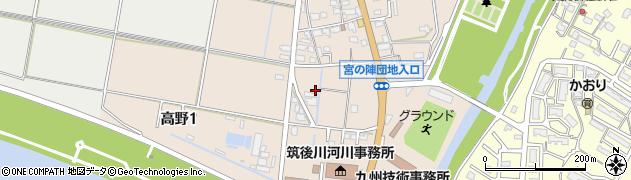 福岡県久留米市高野周辺の地図