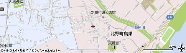 福岡県久留米市北野町鳥巣周辺の地図