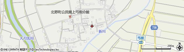 福岡県久留米市北野町上弓削周辺の地図