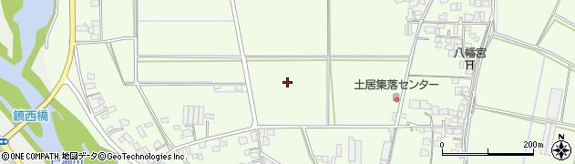 福岡県久留米市北野町大城周辺の地図