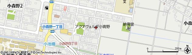 福岡県久留米市小森野周辺の地図