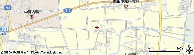 福岡県久留米市田主丸町以真恵周辺の地図