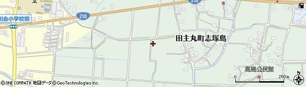 福岡県久留米市田主丸町志塚島周辺の地図