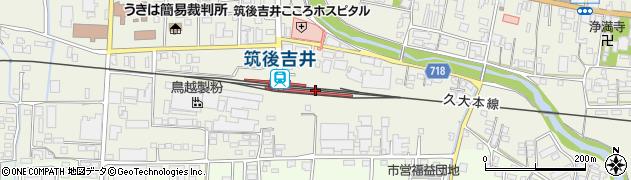 福岡県うきは市周辺の地図