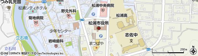 長崎県松浦市周辺の地図