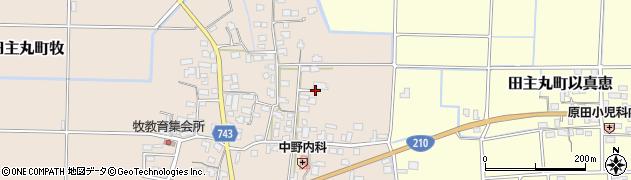 福岡県久留米市田主丸町牧周辺の地図