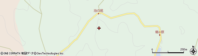 大分県玖珠郡玖珠町山下池ノ尾周辺の地図