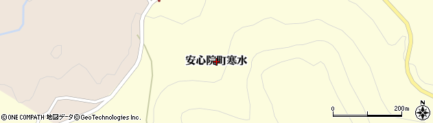 大分県宇佐市安心院町寒水周辺の地図