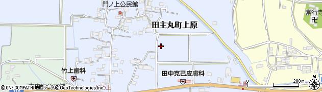 福岡県久留米市田主丸町上原周辺の地図