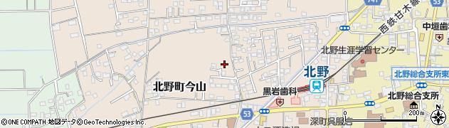 福岡県久留米市北野町今山周辺の地図