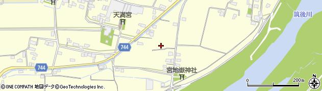 福岡県久留米市北野町金島周辺の地図