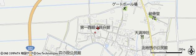 福岡県久留米市宮ノ陣町(八丁島)周辺の地図