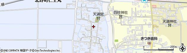 福岡県久留米市北野町仁王丸周辺の地図