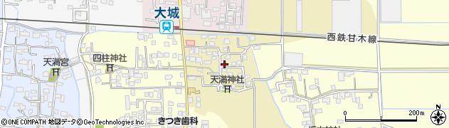 福岡県久留米市北野町乙吉周辺の地図