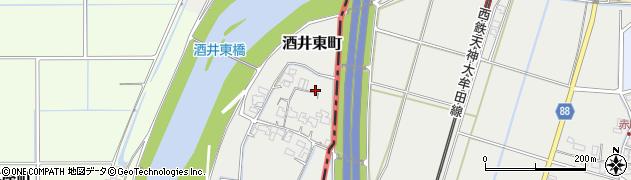 佐賀県鳥栖市酒井東町赤川周辺の地図