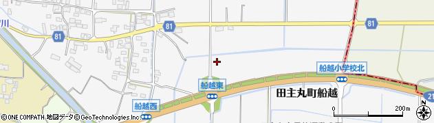 福岡県久留米市田主丸町船越周辺の地図