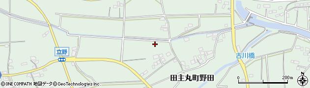 福岡県久留米市田主丸町野田周辺の地図