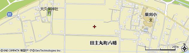 福岡県久留米市田主丸町八幡周辺の地図