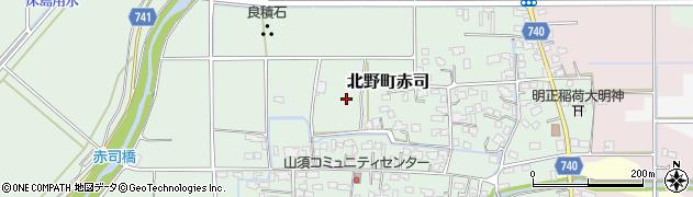 福岡県久留米市北野町赤司周辺の地図