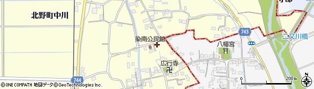 福岡県久留米市北野町中川周辺の地図