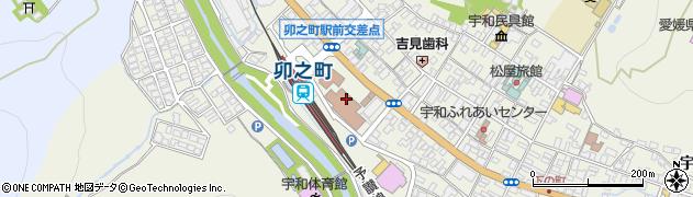 愛媛県西予市周辺の地図