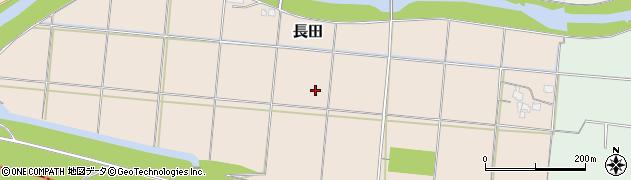福岡県朝倉市長田周辺の地図