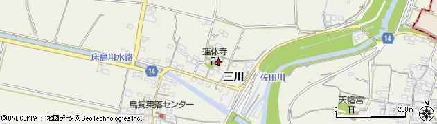 蓮休寺周辺の地図
