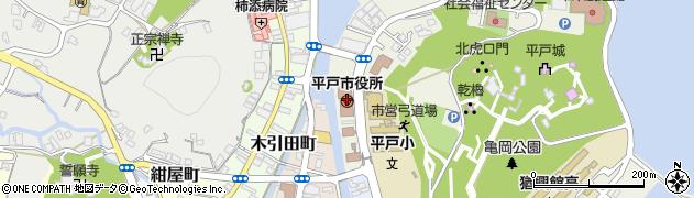 長崎県平戸市周辺の地図