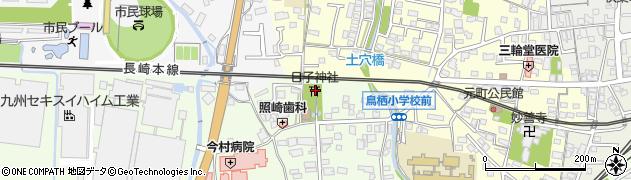 日子神社周辺の地図
