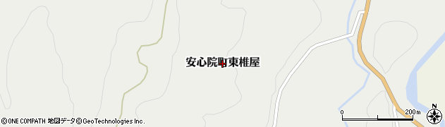 大分県宇佐市安心院町東椎屋周辺の地図