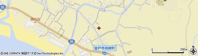 高知県室戸市羽根町乙周辺の地図