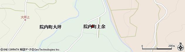 大分県宇佐市院内町上余周辺の地図