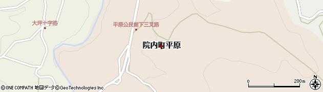 大分県宇佐市院内町平原周辺の地図