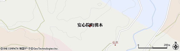 大分県宇佐市安心院町佛木周辺の地図
