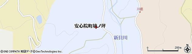大分県宇佐市安心院町境ノ坪周辺の地図