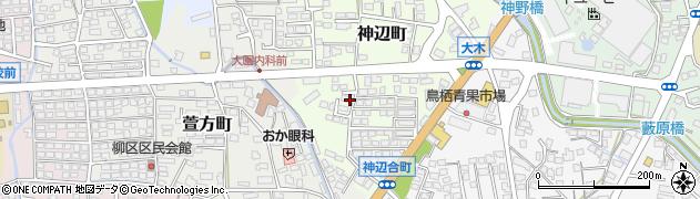 佐賀県鳥栖市神辺町周辺の地図