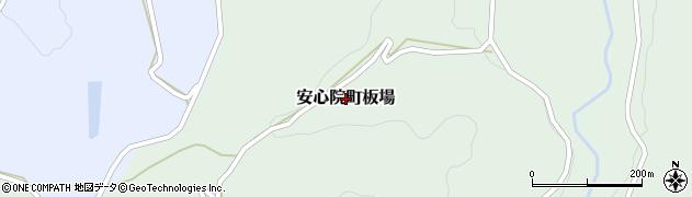 大分県宇佐市安心院町板場周辺の地図